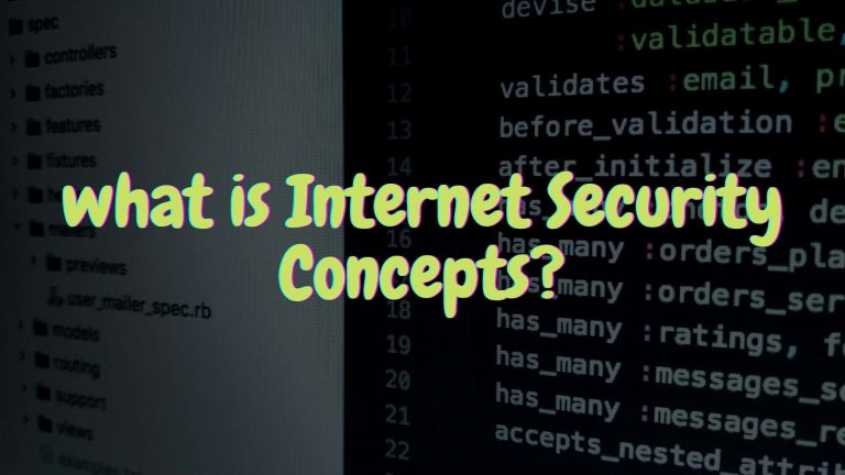 what is Internet Security Concepts?