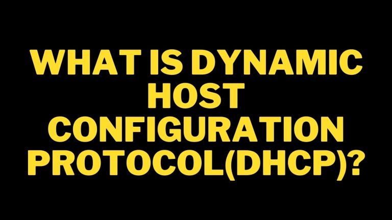 what is dynamic host configuration protocol(DHCP)?