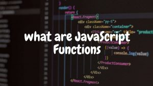 javascript functions in html